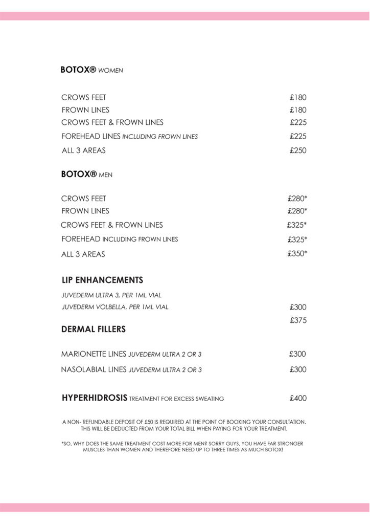 EMAIL PRICE LIST